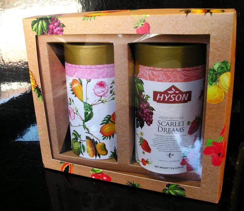 Darčeková sada ovocné čaje Hyson 2X75G