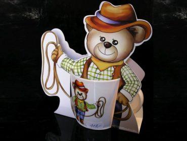 Detský hrnček, hrnček medveď, medvedík