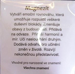 Drátované srdce pre šťastie minerálny kameň magnezit