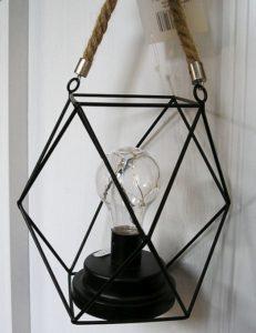 Elektrická lucerna, dekoračná lampa kovová
