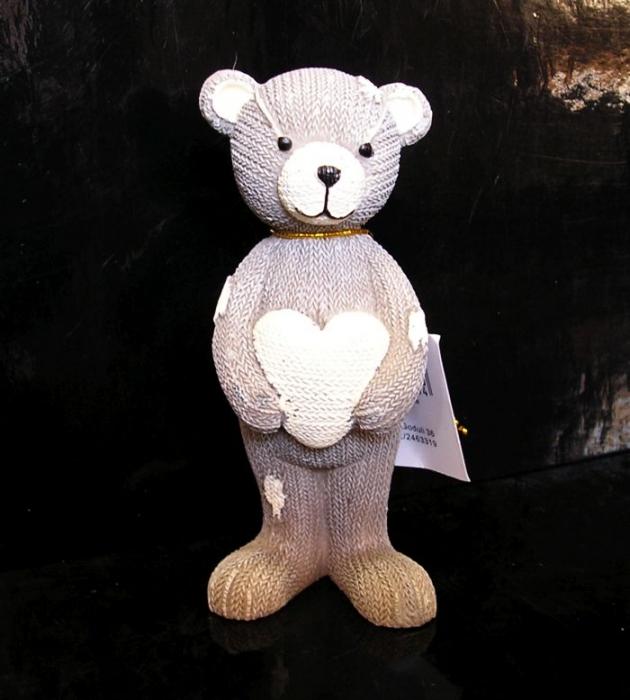 Figúrka medvedík so srdcom, dekorácie