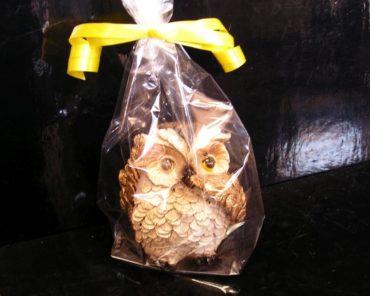 Figúrka sova výr, dekorácie darček