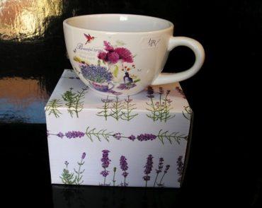 Hrnček na čaj kávu, hrnček kafé Provance, darček
