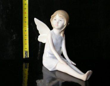 Luxusný keramický anjel, bytové dekorácie sošky