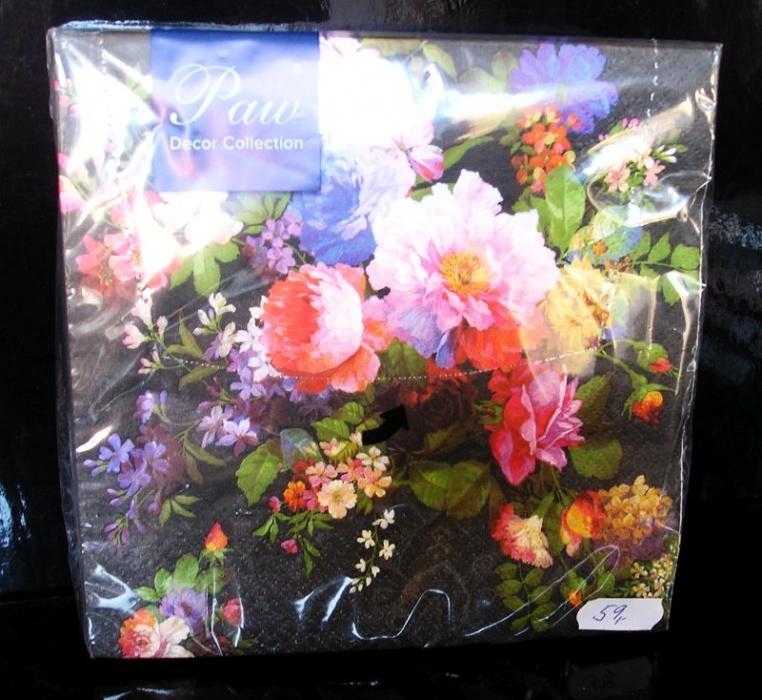 Papierové obrúsky kvetina dekoračné s potlačou, vzorom nevädza