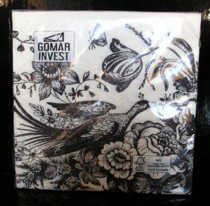 Papierové obrúsky dekoračné s potlačou, vzorom, kvetina