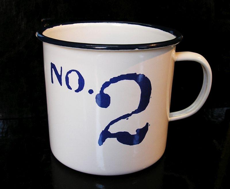 Plechový hrnček 0,4 l No.2, na čaj kávu