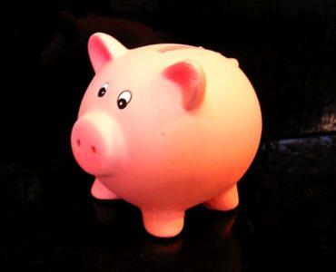 Pokladnička ružové prasiatko, keramika