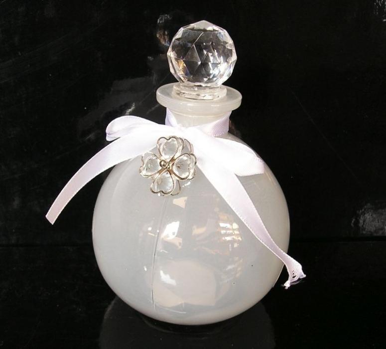 Sklenená funkčná dóza na parfum, bytové dekorácie