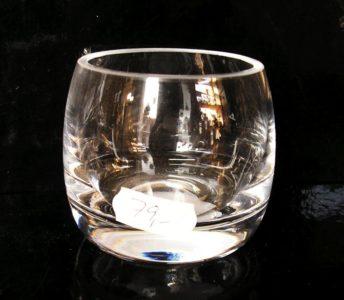 Sklo na sviečku, svietnik číre sklo