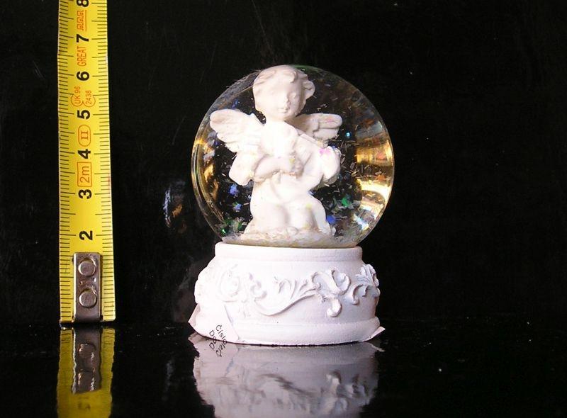 Sněžítko, vianočné anjel, sklenená guľa, dekorácie