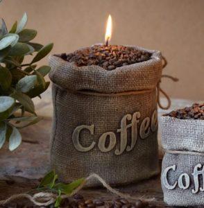 Sviečka veľká káva | kafé | kávička | zrnková káva
