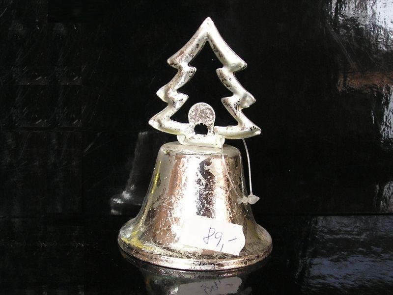 Vianočný plechový zvonček stromček