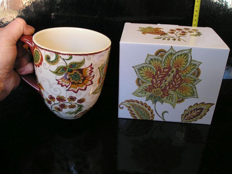 Veľký hrnček na čaj s krabičkou, bytové dekorácie