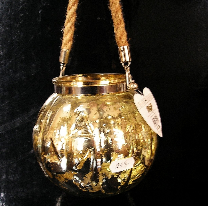Zlatá lucerna, lampa, dekoračná nádoba Hallowen