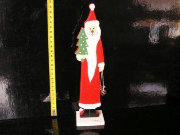 Dekoračná drevená postava Santa Klausa