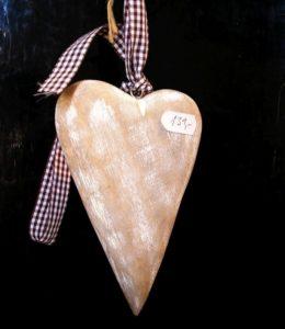 Drevené srdiečko, srdce, závesná dekorácia