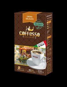 Kávy mletá Crema Delicato Taliansko
