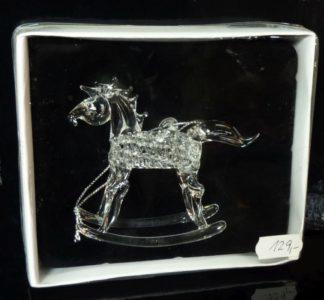 Koník, imitácia skla, kôň závesná dekorácia