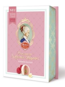 Mozartove gule | čokoláda biela, nugát, marcipán