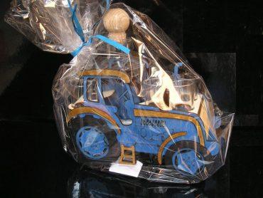 Modrý traktor   Darček fľaša pre traktoristu   SKLO na alkohol