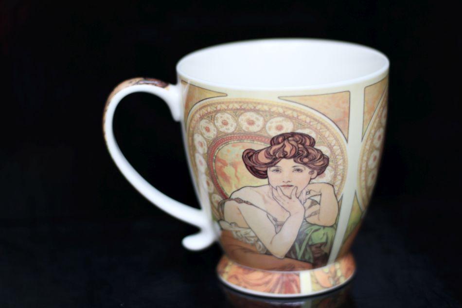 Darčekové hrnčeky Alfons Mucha na kávičku a čaj