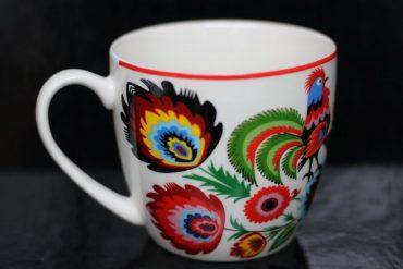 Darčekový hrnček na kávu čaj, folklórny darček