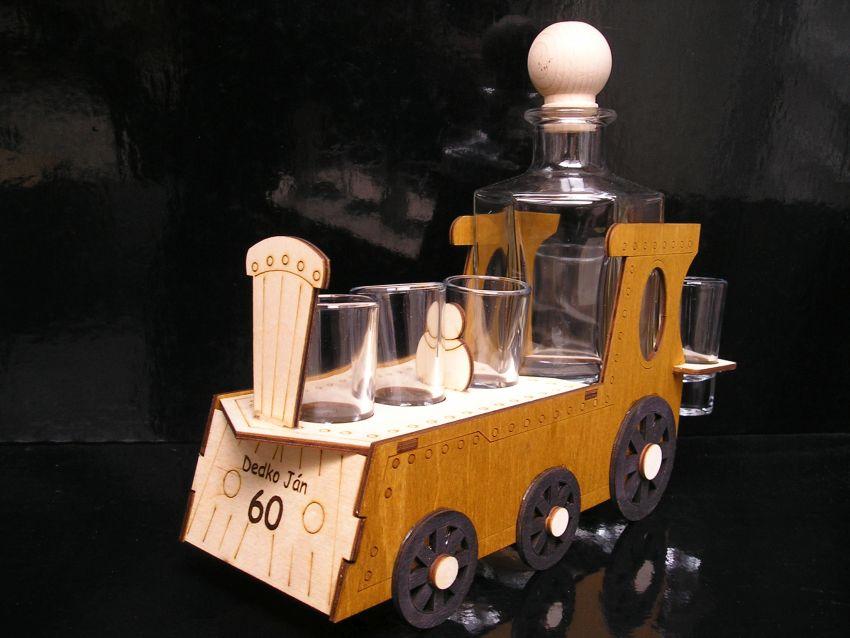 Železničiar darček vláčik lokomotivy