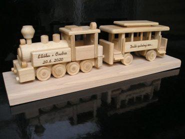Esküvői ajándék, születésnapi ajándék, mozdonyvonat