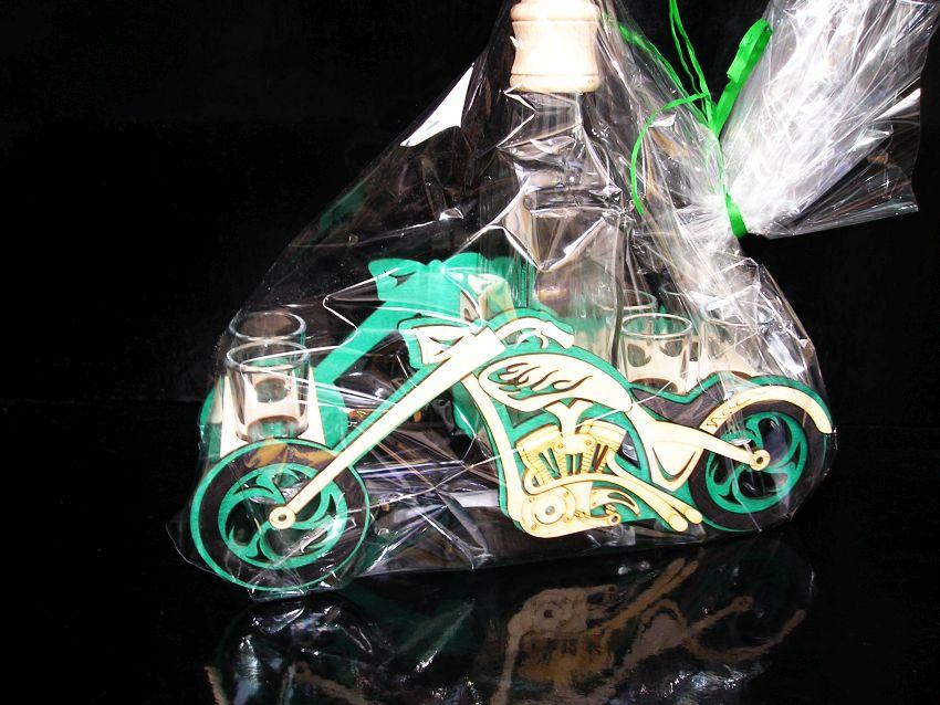 Motorka motorkár darček flaše
