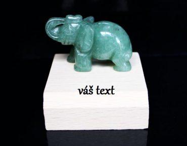 Slon pre šťastie, ochranný minerál avanturín