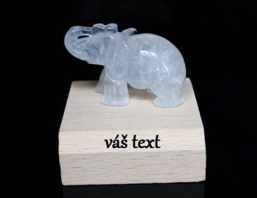 Slon pre šťastie, ochranný minerál krištáľ